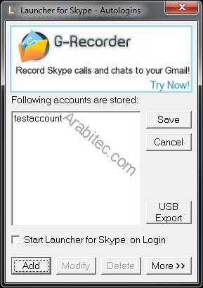 Launcher for Skype