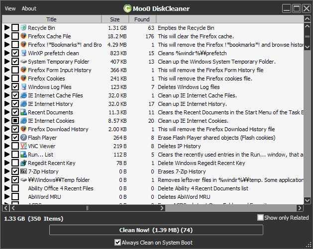 Moo0 Disk Cleaner