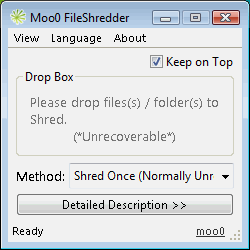 Moo0 File Shredder