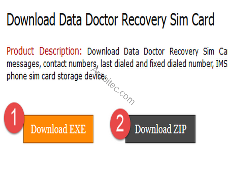 Download Data Doctor Recovery Sim Card