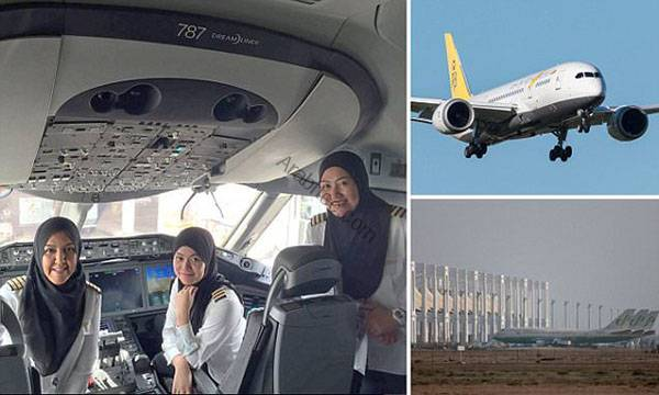 Royal Brunei Airlines' first all-female crew