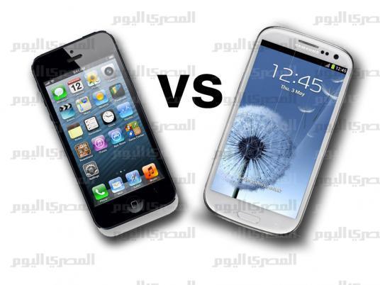 آي فون 5 وجالاكسي إس 3