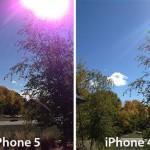 عيب في كاميرا ايفون5