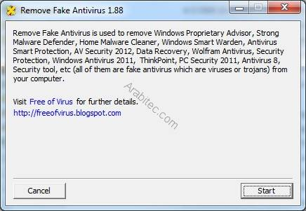 Remove Fake Antivirus 1.88