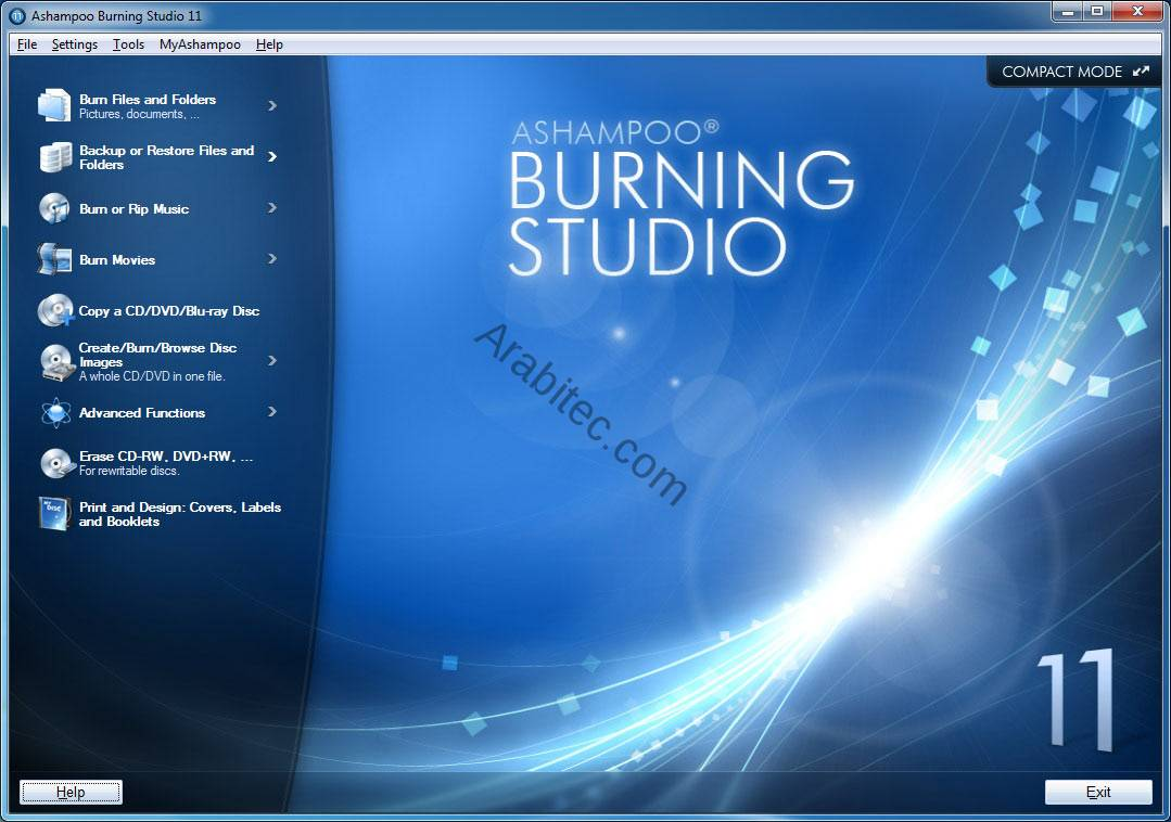 برنامج Ashampoo Burning Studio لحرق الاسطوانات