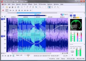 برنامج Sound Forge Pro 10 لتسجيل وتعديل الصوت