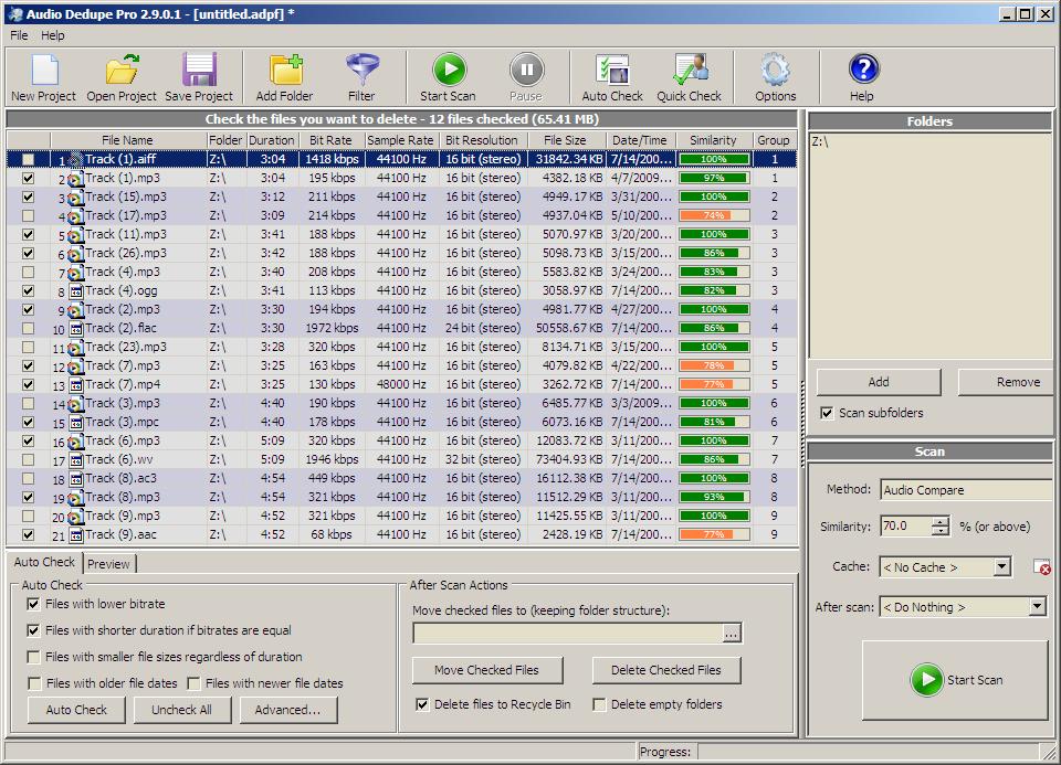 Audio Dedupe - Duplicate MP3 Finder