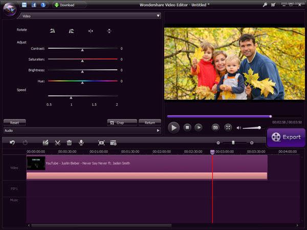 Wondershare Video Editor برنامج  لتعديل الفيديوهات