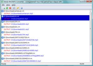 برنامج Meda RM2MP3 Converter
