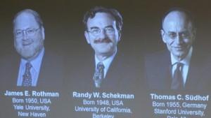 جيمس روثمان وراندي شيكمان والألماني توماس سودهوف