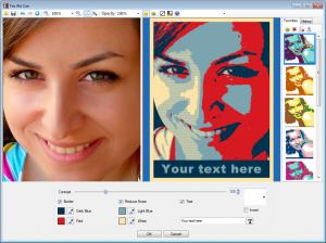Pop Art Studio - استخدم مربع معاينة الصورة لضبطها وتعديل المؤثرات