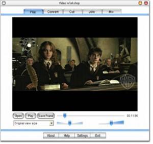 مشغل الفيديوهات في برنامج Video Workshop