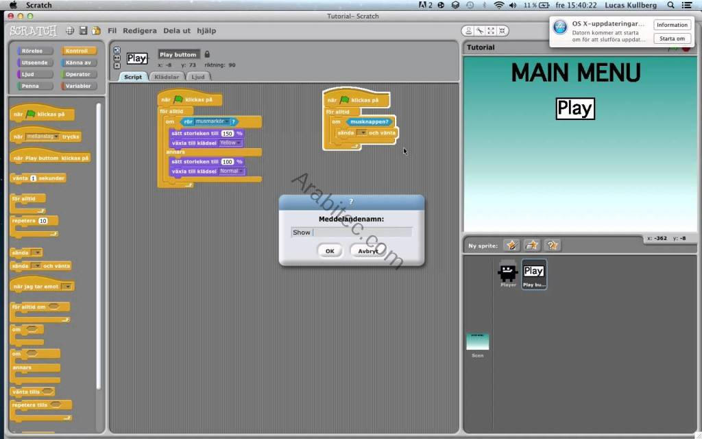 Scratch لتعليم الأطفال البرمجة وتصميم الألعاب والكرتون