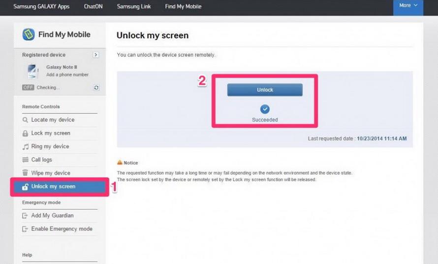 Unlock my screen-on samsung