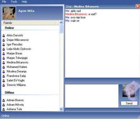 Interface program Facebook Chat IM