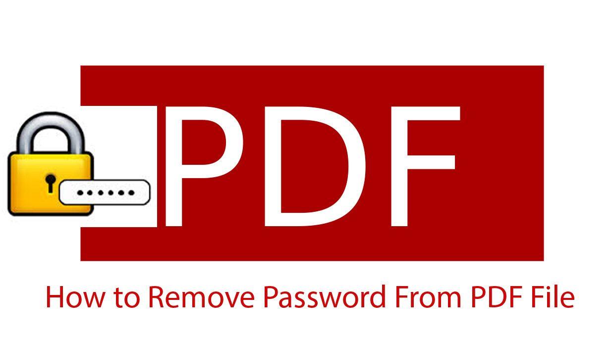 إزالة كلمة مرور ملف PDF