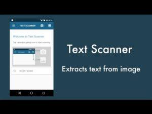 OCR Text Scanner : Convert an image to text