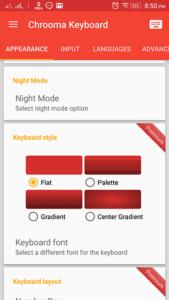 تغيير لون خلفية لوحة المفاتيح وفقاً للون الرئيسي للتطبيق المفتوح على الأندرويد