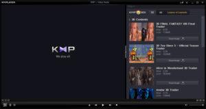 مزايا مشغل الفيديو KM Player