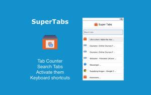 SuperTabs - خمس إضافات لجوجل كروم