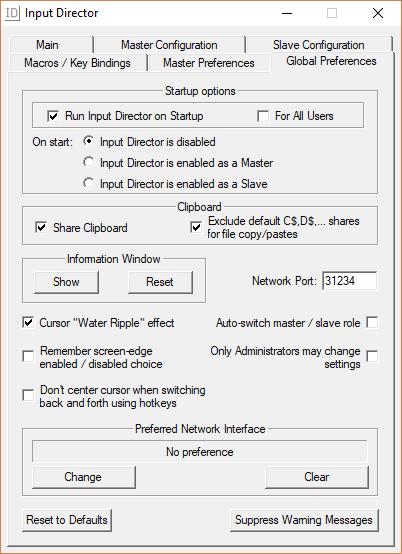 برنامج Input Director