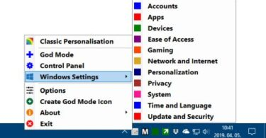 Win 10 All Settings
