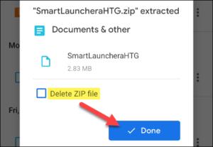 Delete zip File